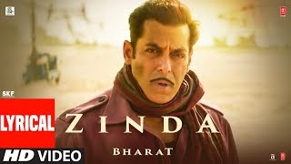 Zinda song lyrics from bharat movie
