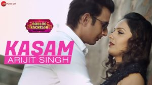 Kasam song lyrics from babloo bachelor movie 2020